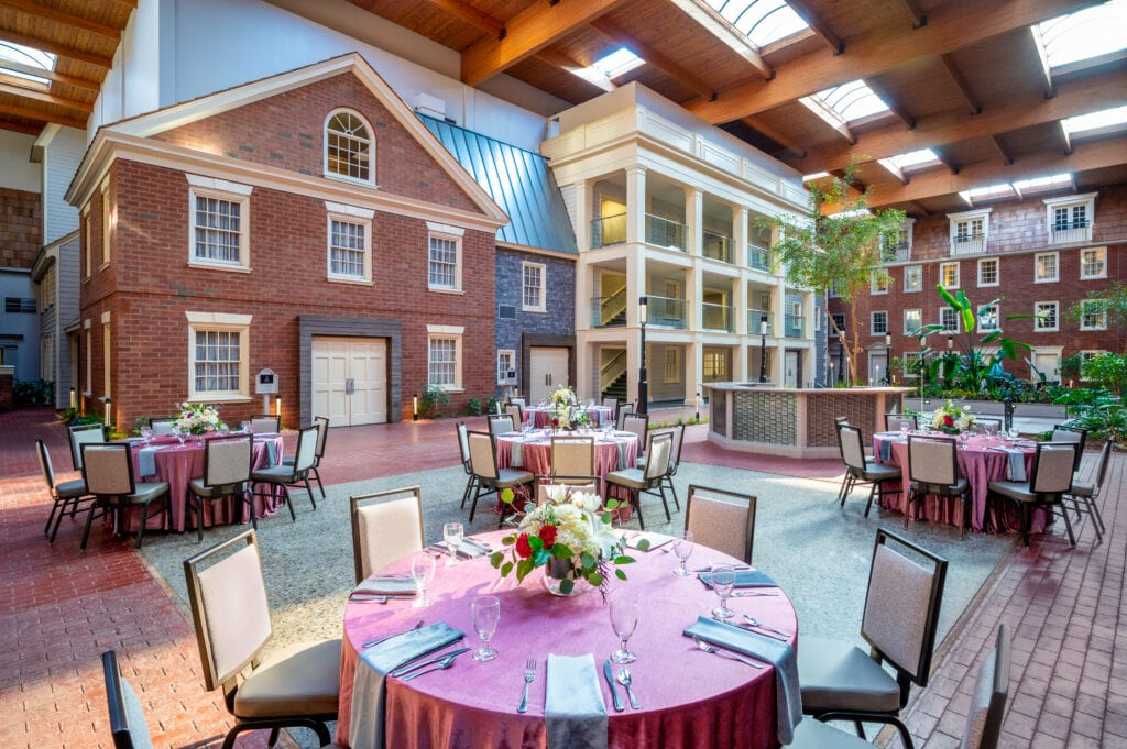 indoor courtyard meetings and events