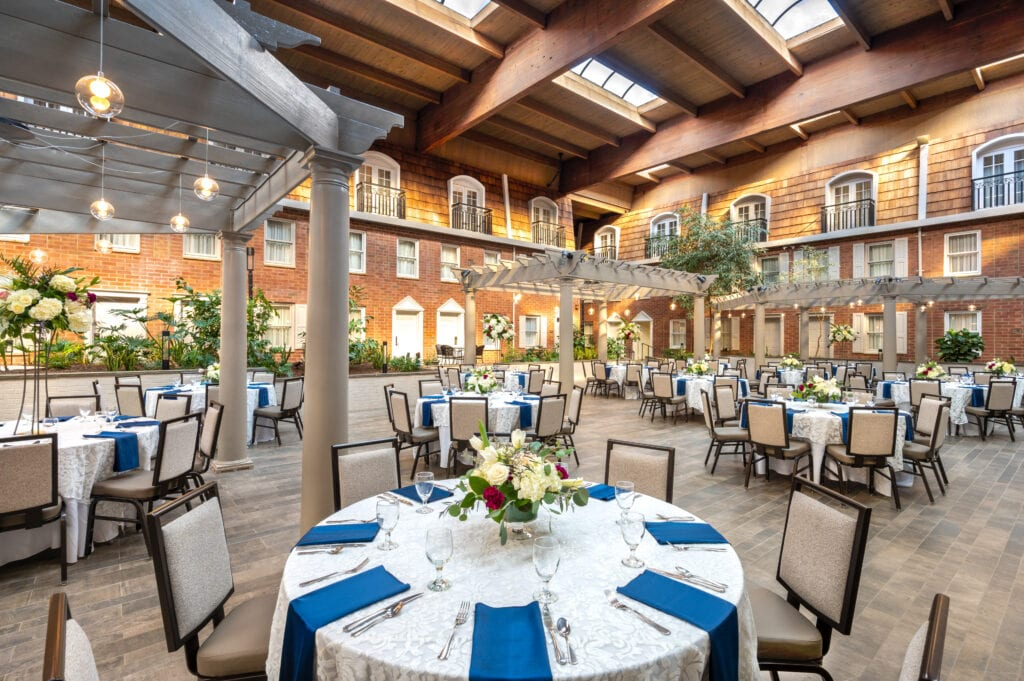 indoor courtyard meetings and events space